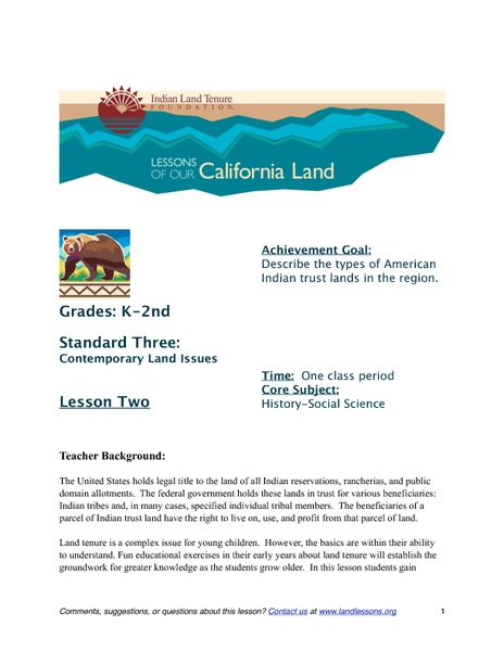 Indian Trust Lands Lesson Plan