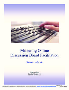 Mastering Online Discussion Board Facilitation Printables & Template