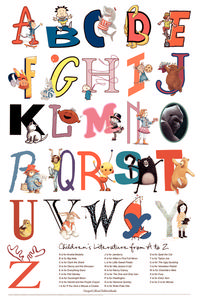 Children's Literature from A - Z Poster Printables & Template