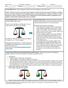 Scales of Equality Lesson Plan
