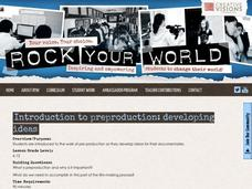 Introduction to Pre-production: Developing Ideas Lesson Plan