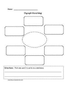 Digraph Word Map Printables & Template