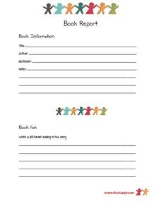 New Ending Book Report Printables & Template