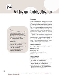 Adding and Subtracting Ten Lesson Plan