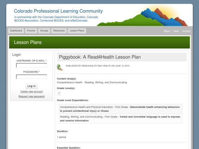 Piggybook: A Read4Health Lesson Plan Lesson Plan