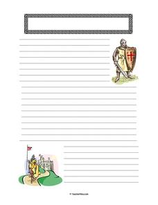 Medieval Stationery Printables & Template