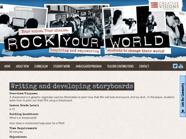 Writing and Developing Storyboards Lesson Plan