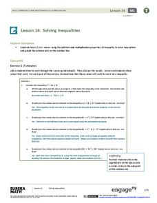 Solving Inequalities Lesson Plan