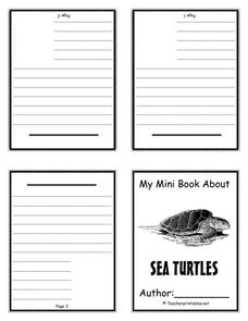 My Mini Book About Sea Turtles Printables & Template