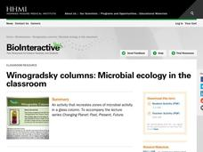 Winogradsky Columns: Microbial Ecology in the Classroom Activities & Project