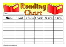 Reading Chart Printables & Template