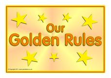 image regarding Golden Rule Printable titled Golden Recommendations Poster Printables Template for Pre-K - 3rd