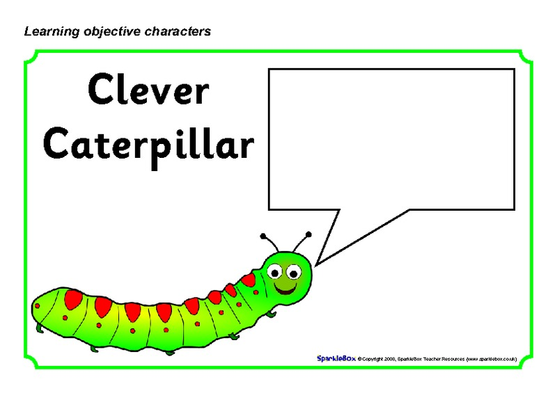 Learning Objective Characters 2 Printables & Template