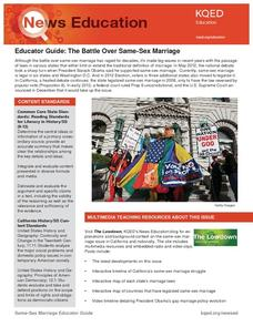 Same-Sex Marriage Lesson Plan
