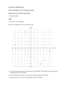 A Rectangle in the Coordinate Plane Assessment