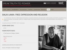 Dalai Lama: Free Expression and Religion Activities & Project