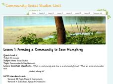 Lesson 1 - Community Social Studies Unit Lesson Plan