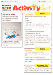 The Wide Mouthed Frog Activity Sheet Activities & Project