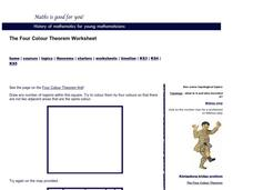 Four Colour Theorem Worksheet Activities & Project