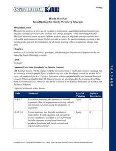 Hardy Har Har: Investigating the Hardy-Weinberg Principle Lesson Plan