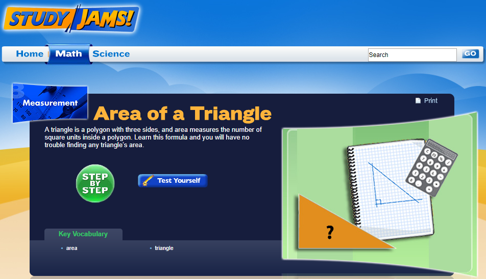Study Jams! Area of a Triangle Interactive