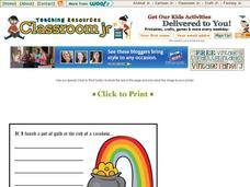 Finding a Pot of Gold Story Starter Printables & Template