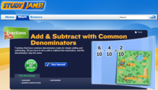 Study Jams! Add & Subtract with Common Denominators Interactive