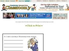 George Washington Story Starter Printables & Template
