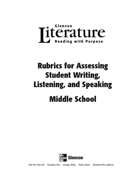 Rubrics for Assessing Student Writing, Listening, and