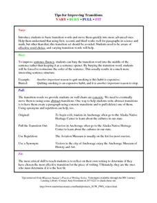 Tips for Improving Transition Handouts & Reference