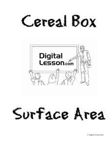 Cereal Box Surface Area Activities & Project