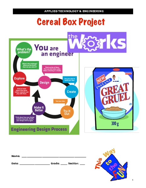 Cereal Box Project Activities & Project