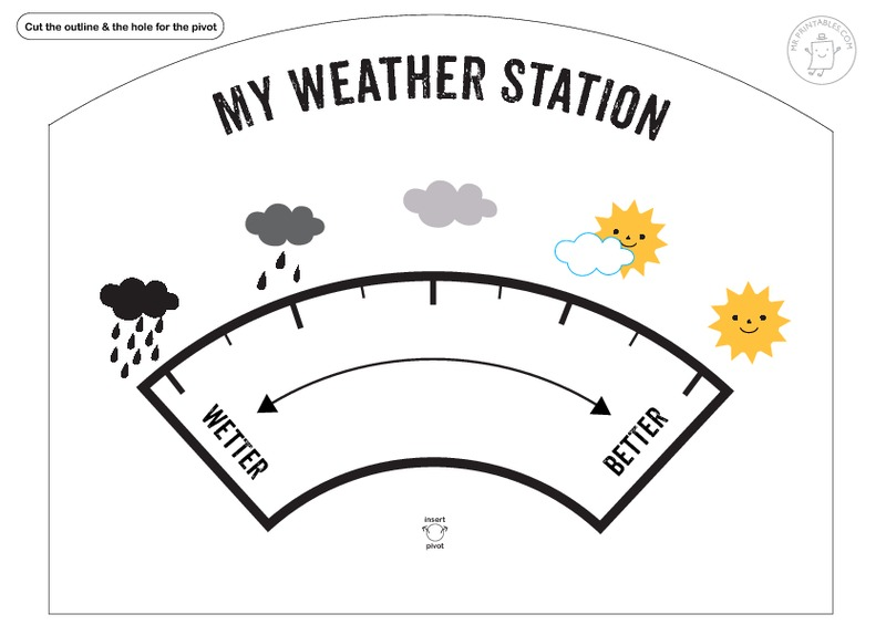 My Weather Station Printables & Template for Kindergarten