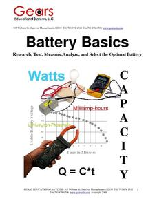 Battery Basics Lesson Plan