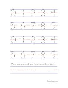 Traceable Numbers Practice Printables & Template