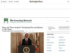 News and News Analysis: Navigating Fact and Opinion in the Times Lesson Plan