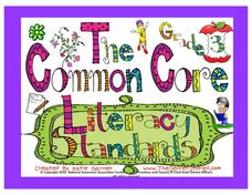 The Common Core Literacy Standards - Grade 3 Posters Printables & Template