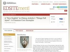 "A ""New English"" in Chinua Achebe's ""Things Fall Apart"": A Common Core Exemplar Lesson Plan"