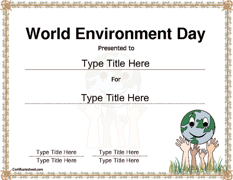 World Environment Awareness Template Printables & Template