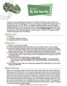 My, How Time Flies Activities & Project