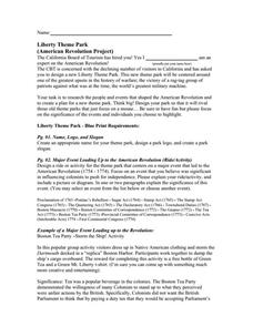 Liberty Theme Park Project Activities & Project