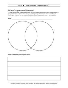 I Can Compare and Contrast Printables & Template
