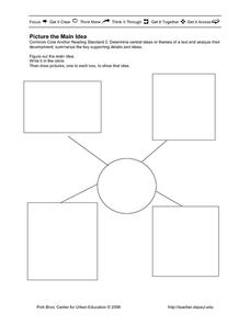 Picture the Main Idea Printables & Template