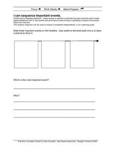 I Can Sequence Important Events Printables & Template
