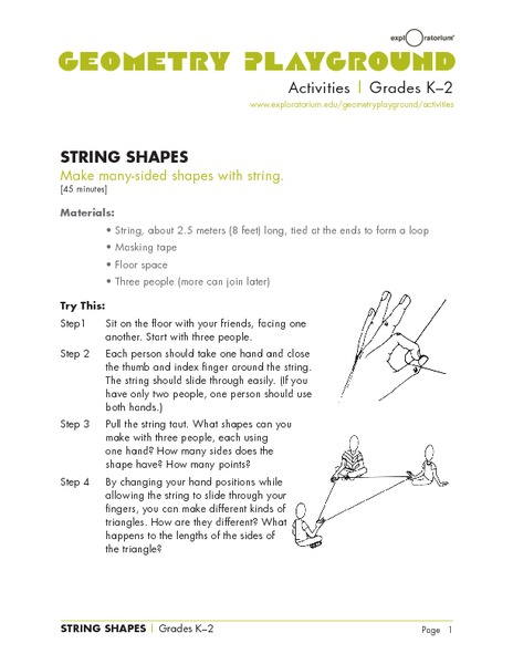 String Shapes Lesson Plan