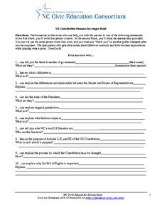 Worksheets Constitution Scavenger Hunt Worksheet us constitution human scavenger hunt 10th 12th grade worksheet worksheet