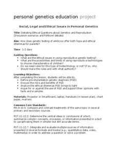 Genetics and Reproduction Lesson Plan