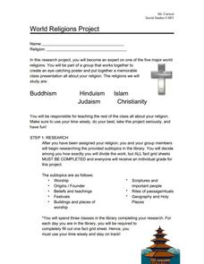 World Religions Project Activities & Project