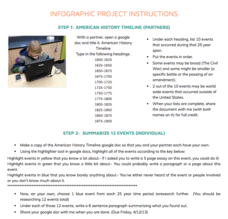 Infographic Project Activities & Project