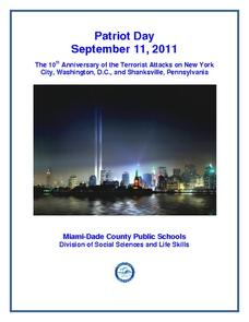 Patriot Day September 11, 2011 Activities & Project